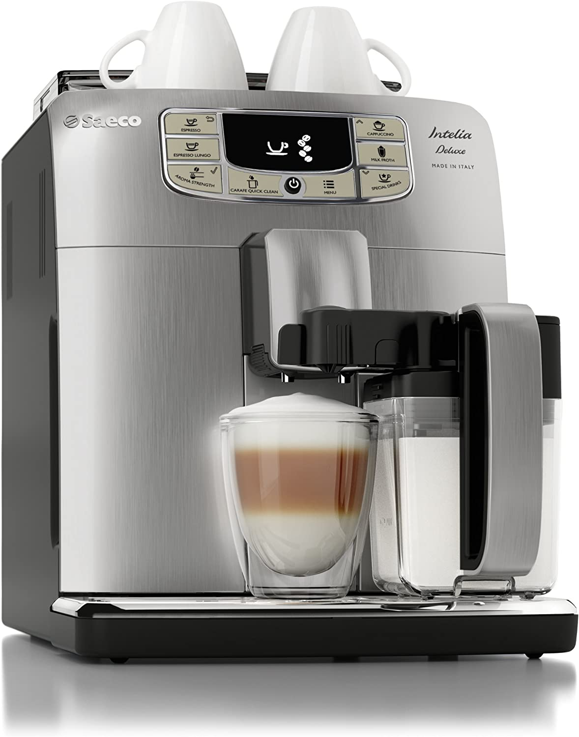 Saeco HD877193 Cafetera (Independiente, Máquina espresso, 1,5 L, Molinillo integrado, 1900 W, Acero inoxidable)