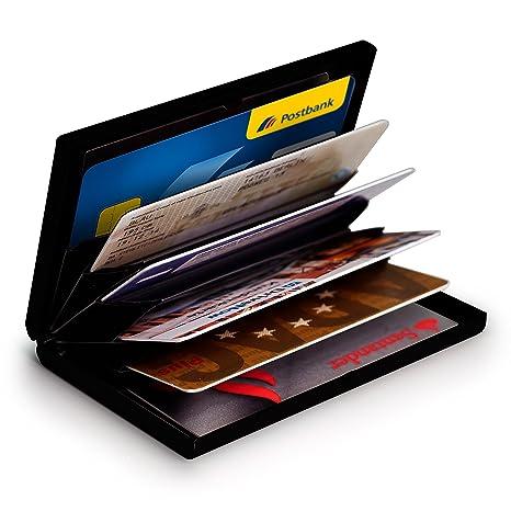 c1d178a06 MyGadget Billetera de Aluminio con Bloqueo RFID NFC para Tarjetas de  Crédito Slim Cartera Tarjetero de