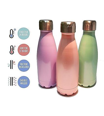 Smart Creations Botella De Agua Acero Inoxidable 350 ML - Botellas Térmicas para Agua - Botellas sin BPA - Termo para Té - Termo para café - Botella ...
