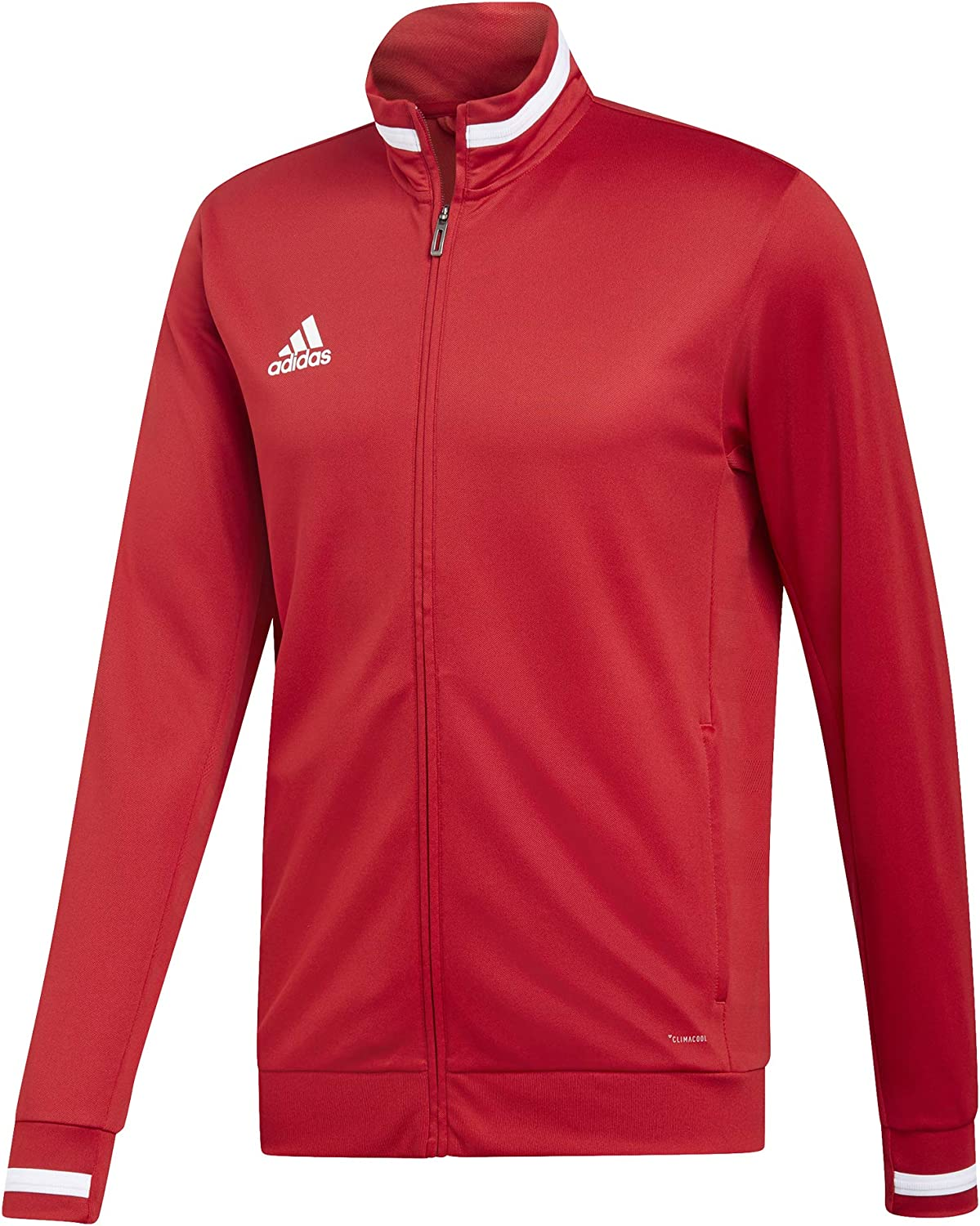 Power Red//White S Hombre adidas T19 TRK JKT M Chaqueta