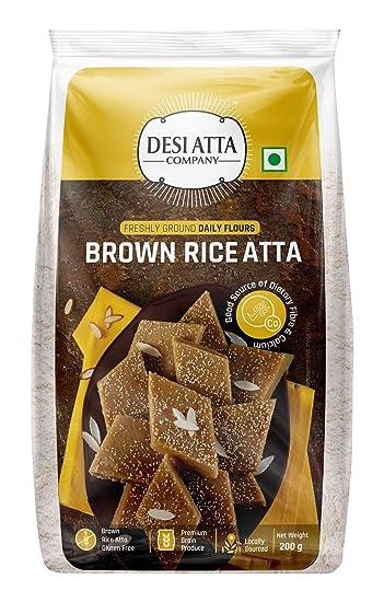 DESI ATTA Brown Rice Atta PP 200g (Pack of 2)