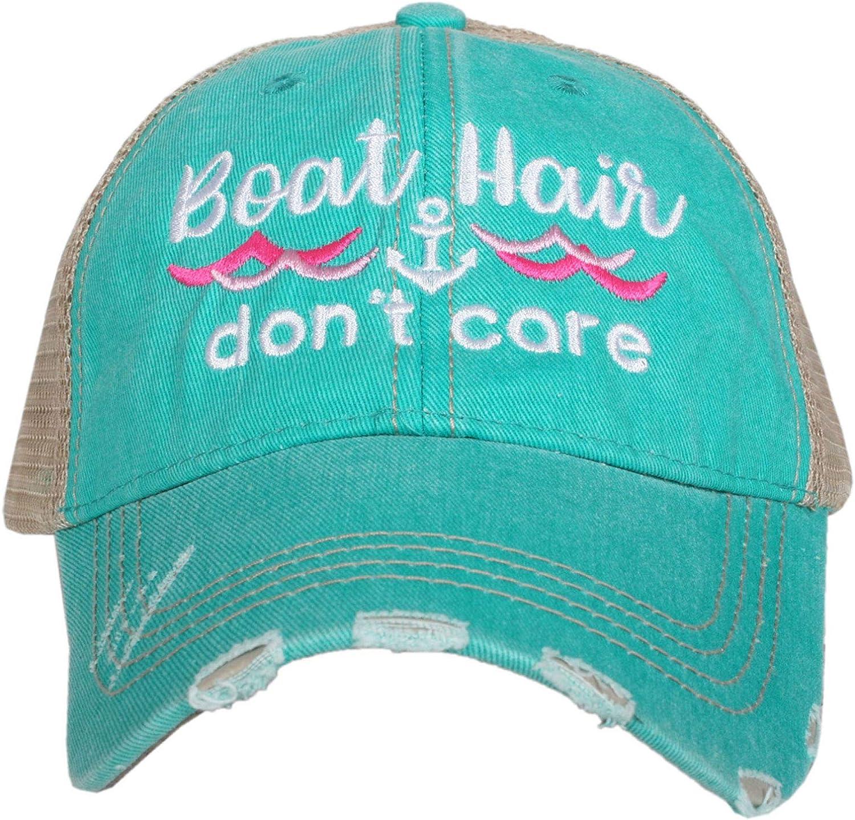 Katydid Baseball Hair Don/'t Care Women/'s Trucker Hat-grey
