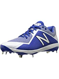 New Balance Mens L4040v4 Metal Baseball Shoe, Royal/White, 9.5 2E US