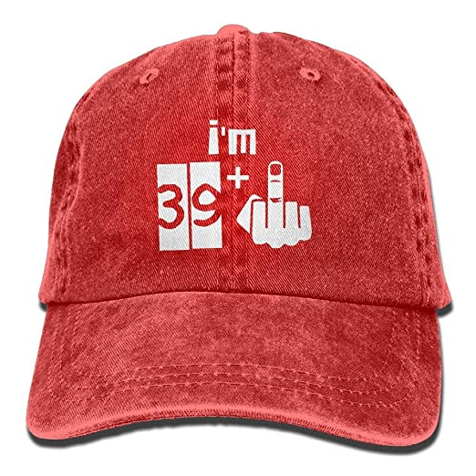 HATS NEW Im 39 Plus 1 40th Birthday Cotton Adjustable Denim Hat Baseball Caps