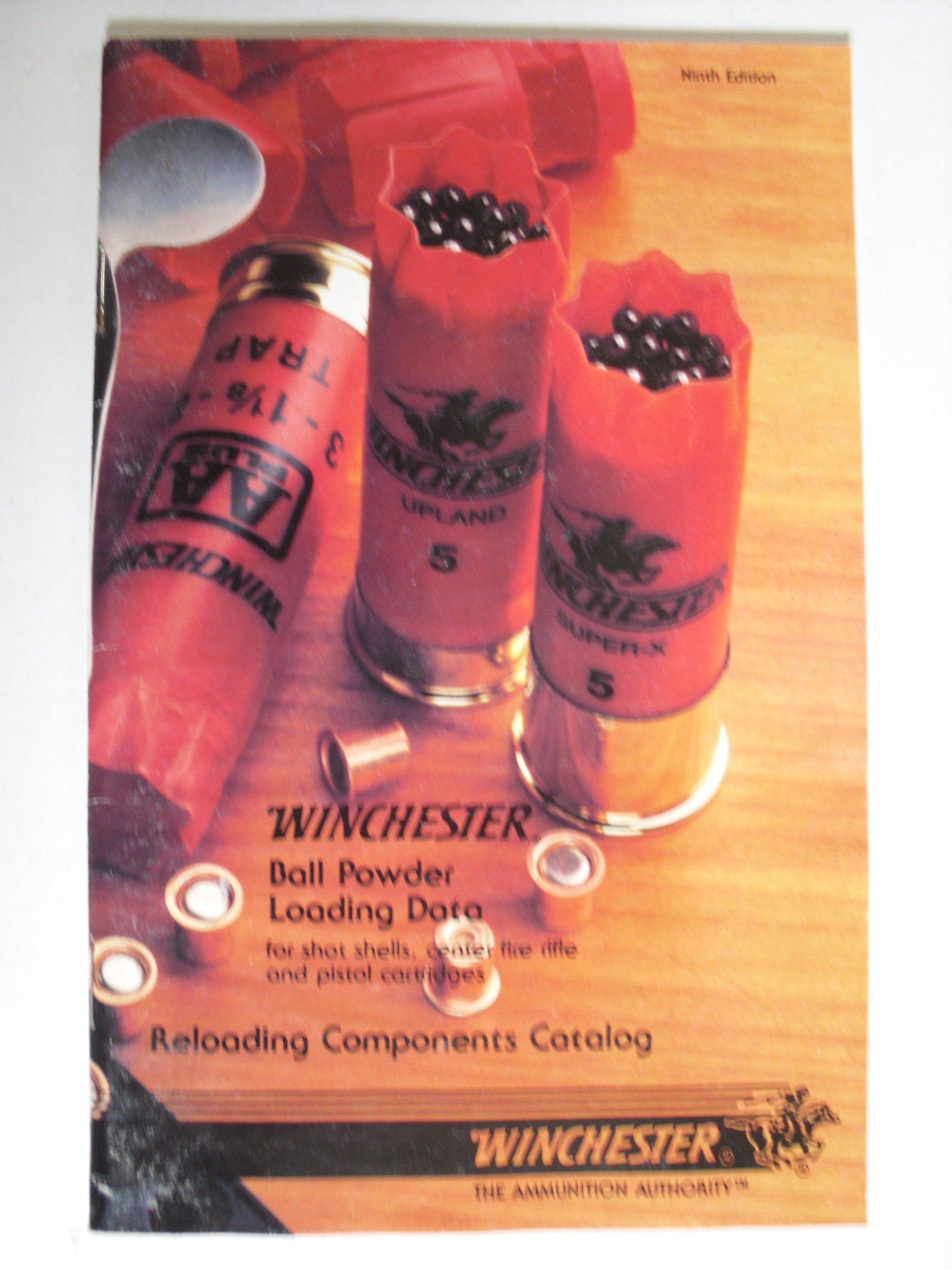 Winchester Ball Powder Loading Data for shot shells, center