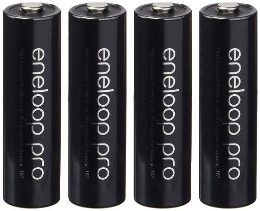 64 opinioni per Eneloop Pro BK-3HCCE/4BE Confezione da 4 Batterie Mignon AA 2450 custodia