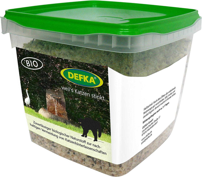 defka 0, 5 kg Protección Natural plástico para evitar SOSTENIBLES de gato hinterlassenschaften – Ahuyentador de gato – Ahuyentador de Gatos: Amazon.es: Jardín