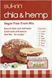 sukrin chia and hemp low carb bread mix gluten free 250g