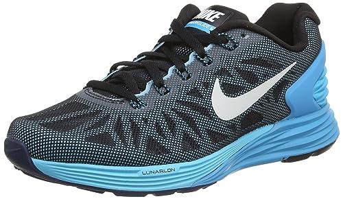 Nike Lunarglide 6 Negro / Blanco Azul Laguna Clrwtr Mujer En El Catálogo finishline barato nuevo estilo costo fechas de lanzamiento qQlZgtER