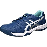 ASICS Men's Gel-Dedicate 6 Tennis Shoe, Blue/White, 10 UK