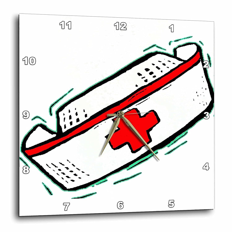 3dRose dpp/_11114/_3 Nurses Cap Wall Clock 15 by 15-Inch