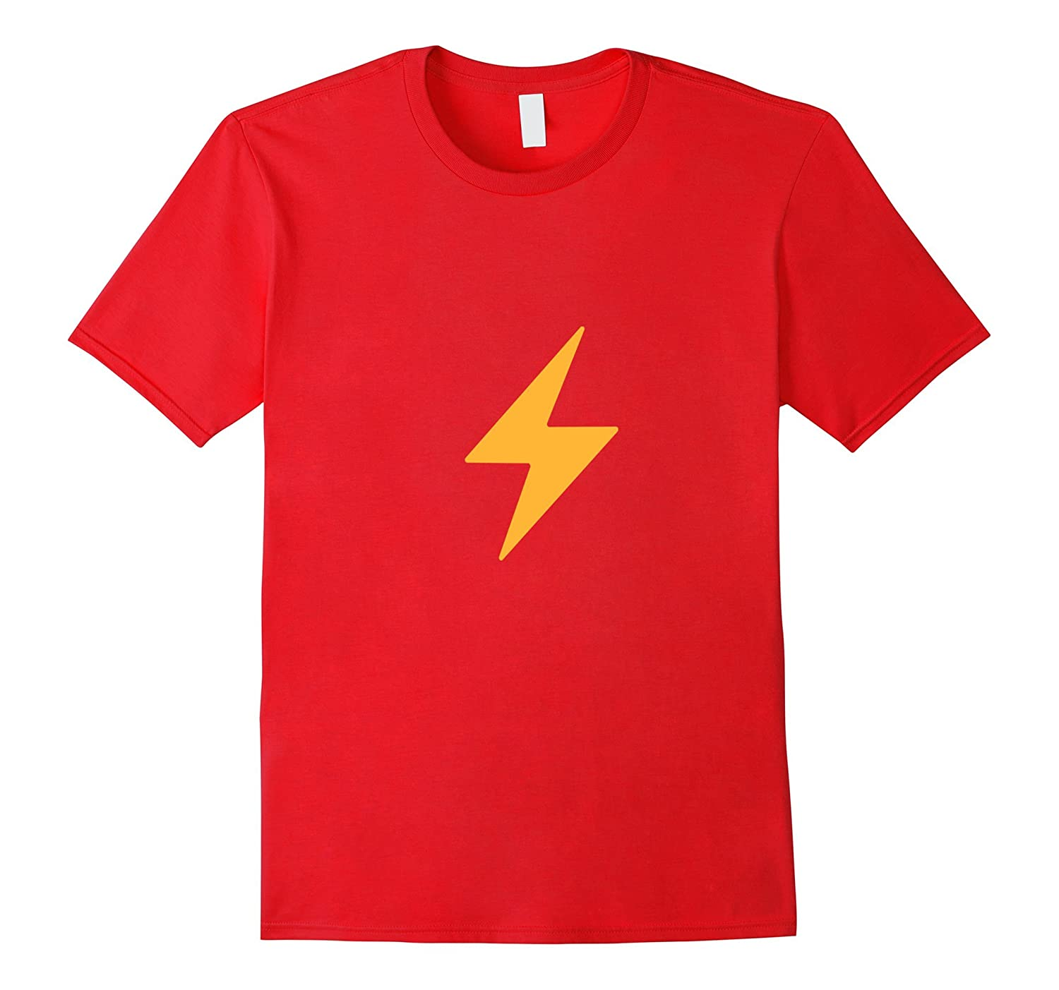 Lightning Bolt Emoji T-Shirt Thunder Flash Shock Emoticon-TD