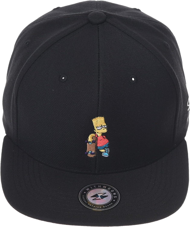 WITHMOONS The Simpsons Baseball Cap Bart Simpson Skateboard Snapback Hat HL2964