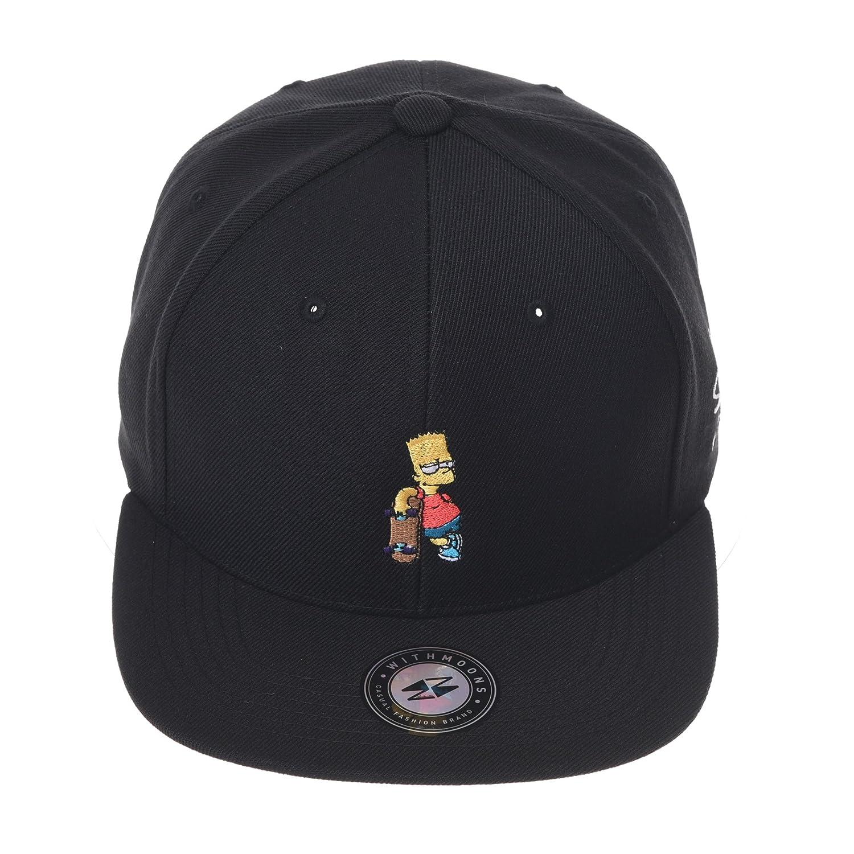 5ecb710c9392d WITHMOONS The Simpsons Baseball Cap Bart Simpson Skateboard Snapback Hat  HL2964 (Black) at Amazon Men s Clothing store