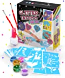Original Stationery Glitter Tattoo Studio - Perfect Birthday Gifts For Girls - Sparkly And Colorful Temporary Tattoos…