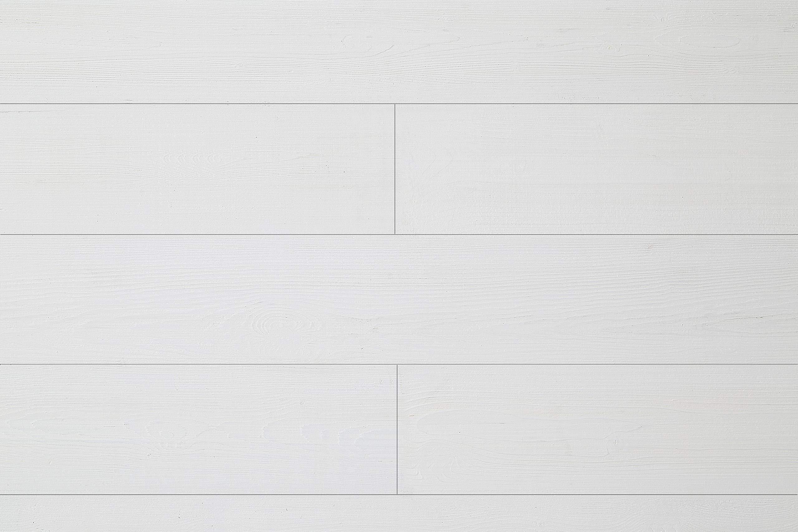 WoodyWalls Peel and Stick Wood Panels. (19.5 sq. ft. per Box) Santorini (Pure White)