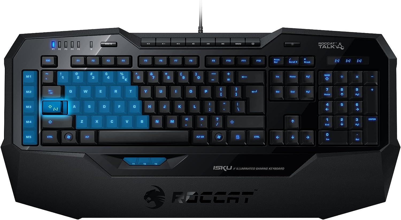 Roccat Isku Illuminated Gaming Tastatur Schwarz Elektronik