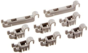Bosch Dishwasher Lower Rack Flip Tynes Plastic Bearing Clips Kit