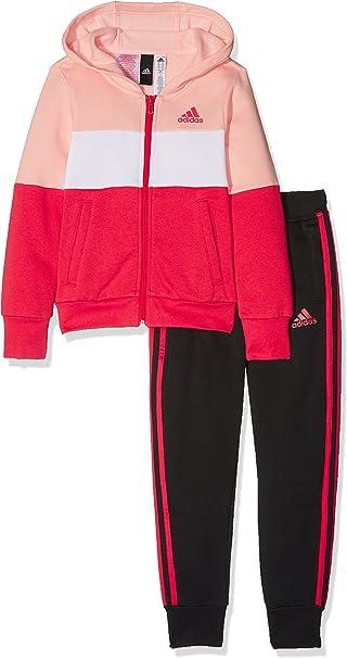 adidas Mädchen Hood Cotton Trainingsanzug