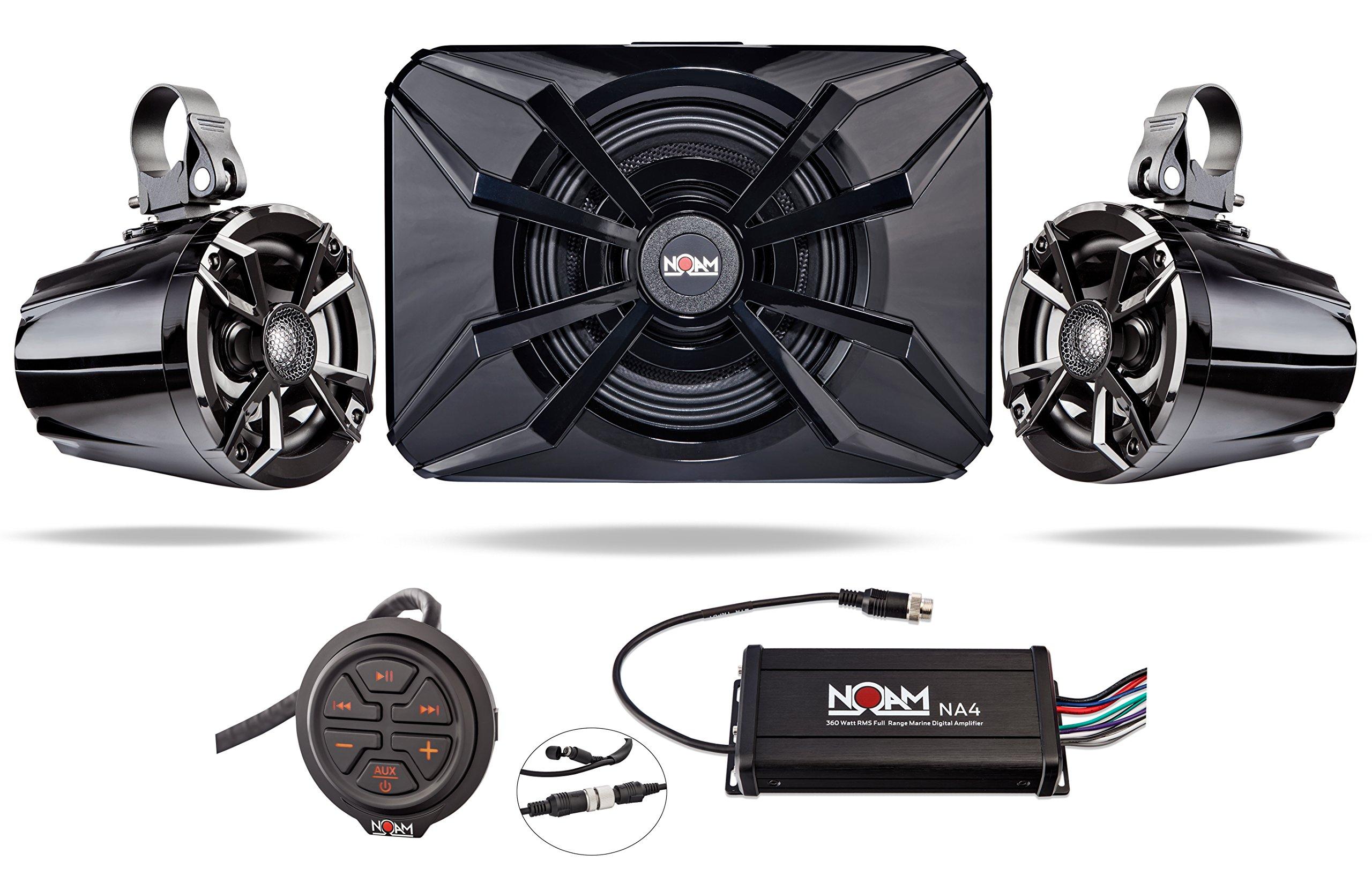 NOAM NUTV5-S - ATV / Golf Cart / UTV Waterproof Speakers Bluetooth 2.1 Marine Stereo System by NOAM