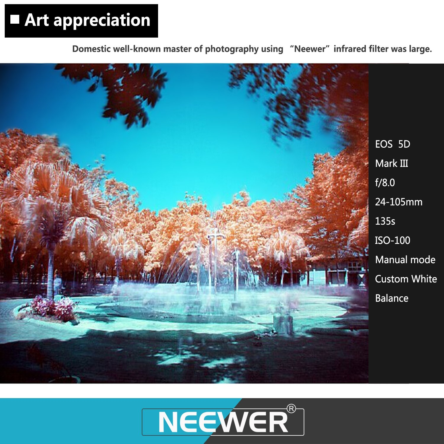 IR950 with Filter Carrying Pouch for Canon EOS 700D 650D 600D 500D 450D 400D 350D 300D 1100D 1000D 100D 60D DSLR Camera IR760 Neewer 4 Pieces 58mm Infrared X-Ray IR Filter Set IR720 IR850