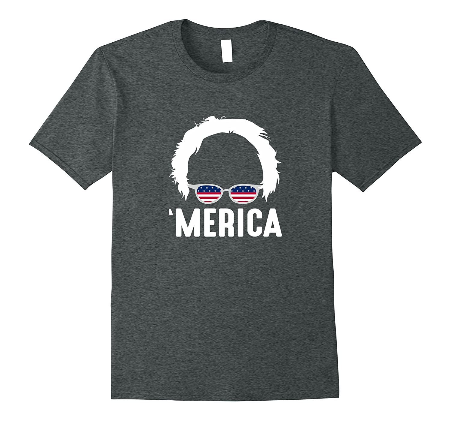 'Merica - Bernie Flag Glasses - T-shirt-TH