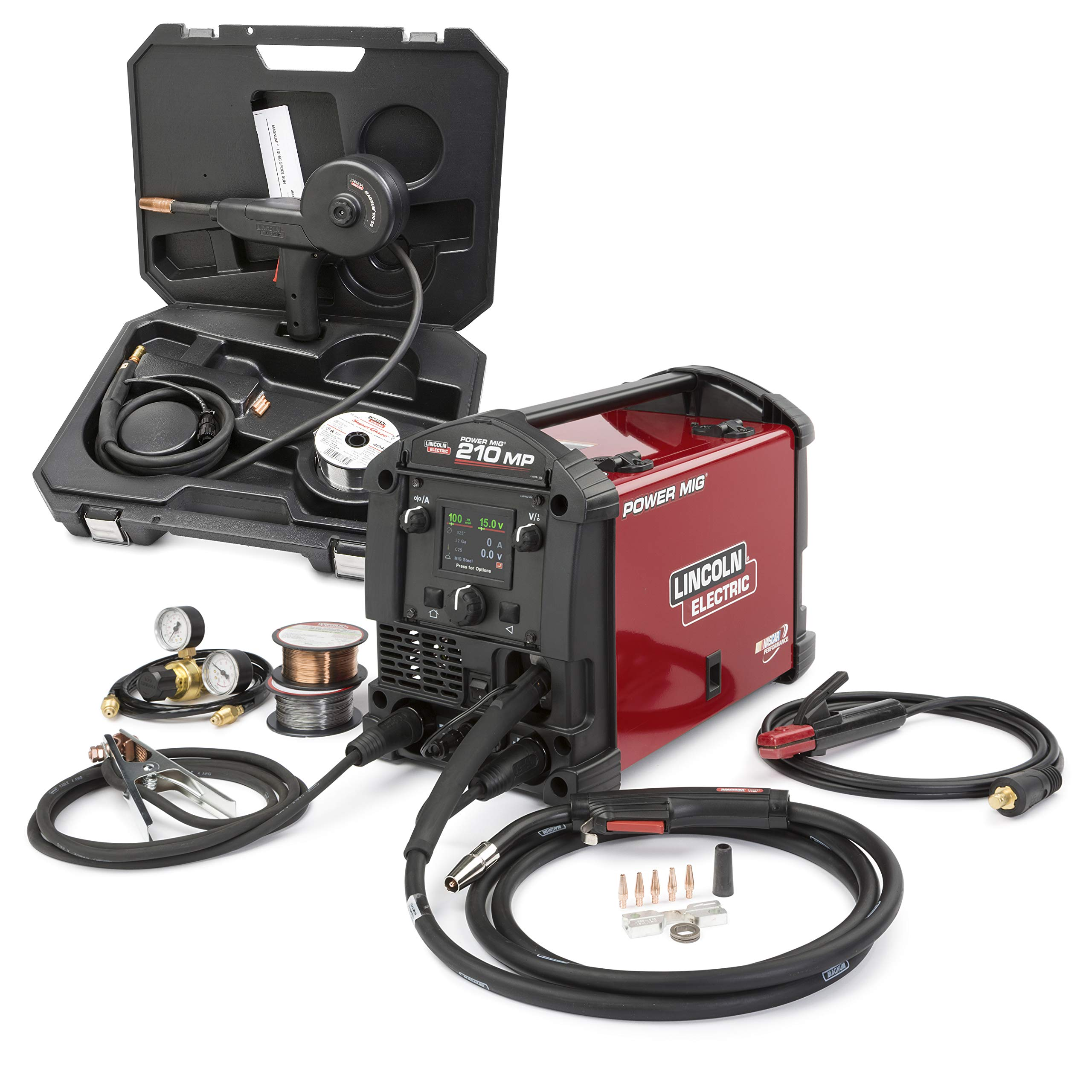 Lincoln Electric POWER MIG 210 MP Multi-Process Welder Aluminum One-Pak - K4195-1 by Lincoln Electric