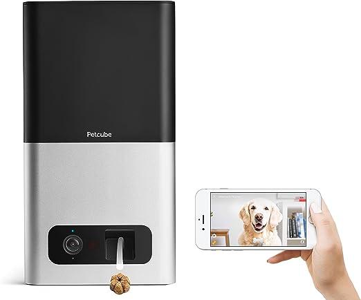 Petcube Bites Cámara Wi-Fi para Mascotas con dispensador de Galletas. Cámara de Video HD 1080p para monitoreo de Mascotas. Audio bidireccional, visión Nocturna y Zoom 3X. para Perros y Gatos.: Amazon.es: Productos