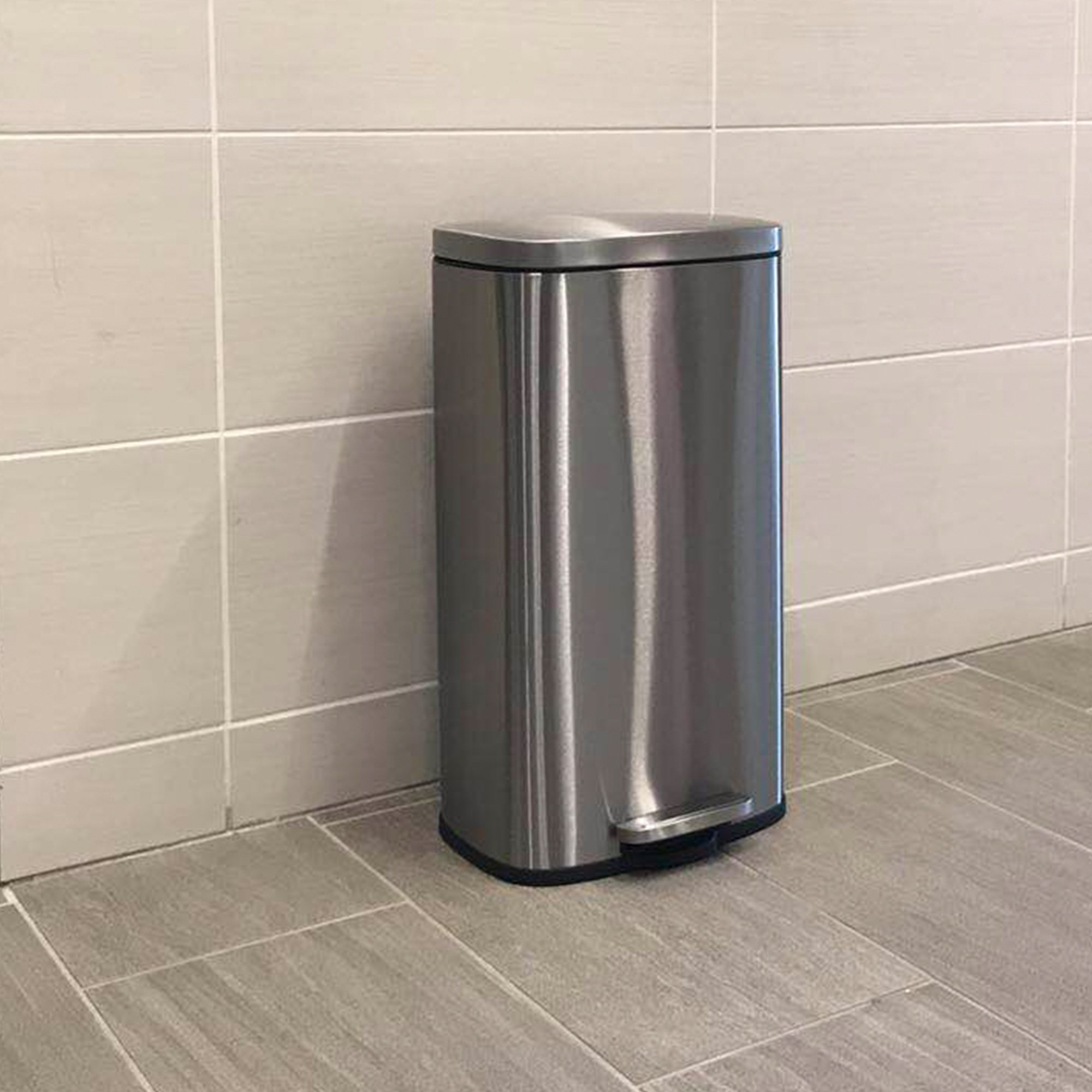 iTouchless SoftStep 8 Gallon Stainless Steel Step Trash Can, 30 Liter Pedal Kitchen Trash Can Perfect for Office, Home and Kitchen by iTouchless (Image #6)