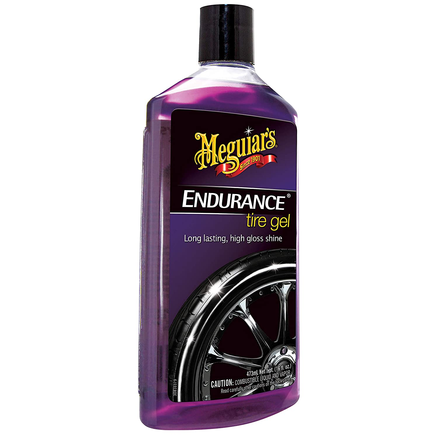 Meguiar's Endurance High Gloss Tyre Protection Gel with Tyre Dressing Applicator Pad