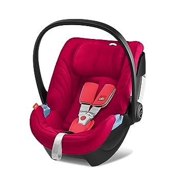 GB Gold - Portabebé Artio, incluye reductor para recién nacido, desde el nacimiento hasta los 18 meses aprox., max. 13 kg, Cherry Red