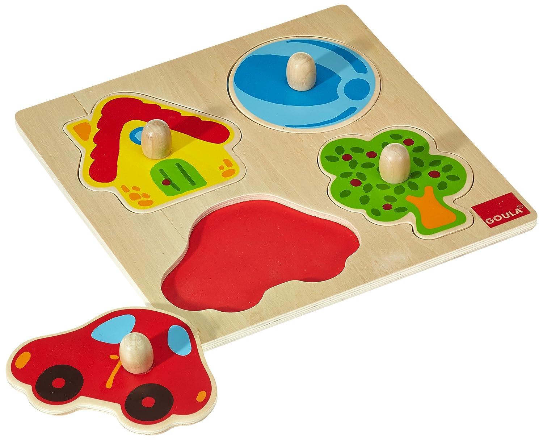 Jumbo D53015 - Holzpuzzle Zu Hause, 4 Teile Legespiele Puzzles Non Books Cartoons &