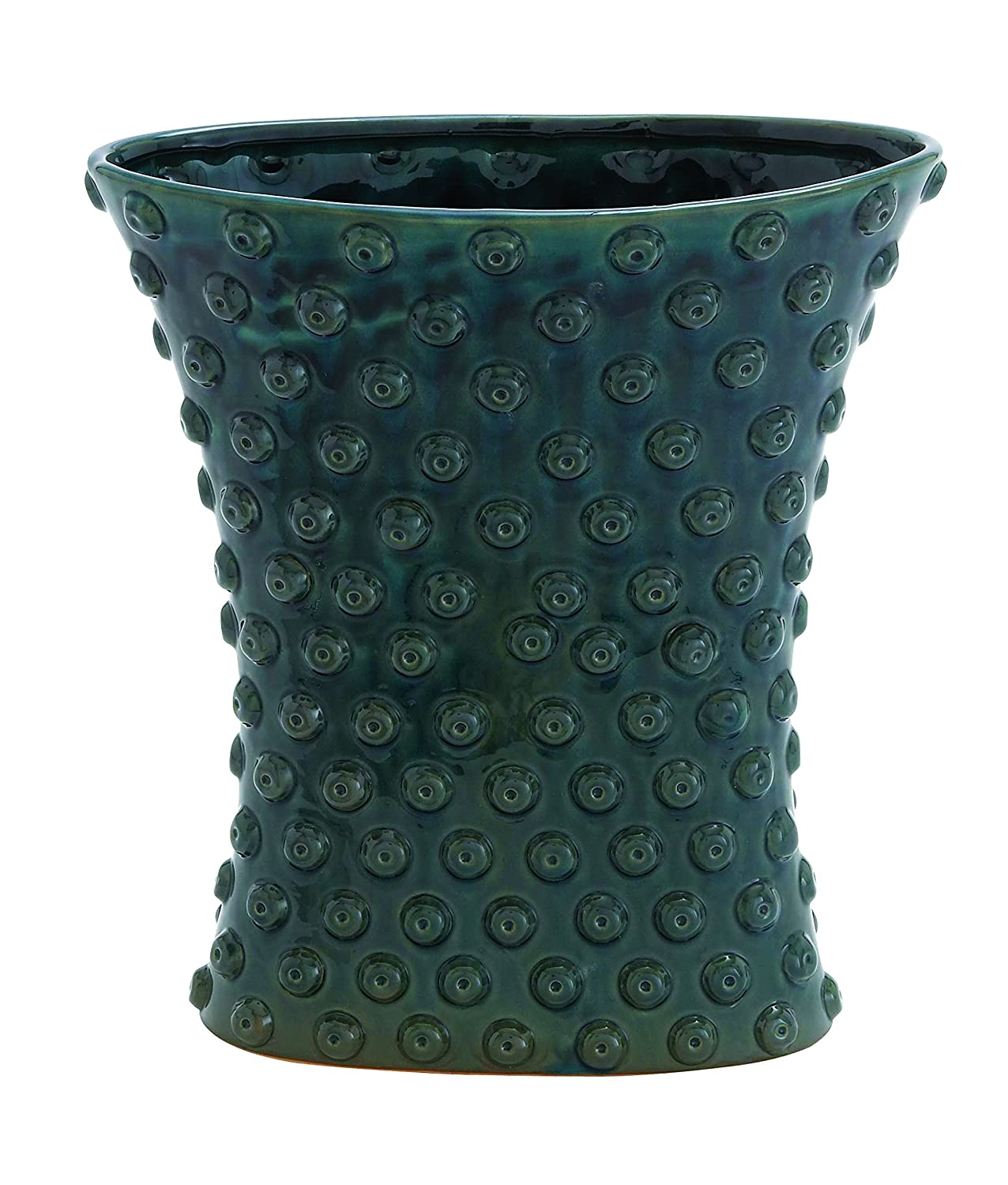 Plutus Brands Weather Resistant Ceramic Crackled Vase with Easy to Use Facility UE7295
