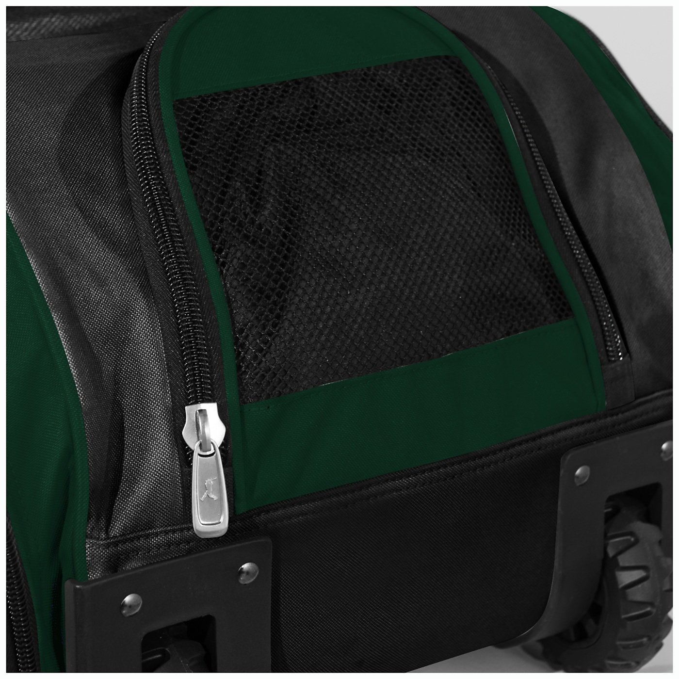 Boombah Beast Baseball/Softball Bat Bag - 40'' x 14'' x 13'' - Black/Dk Green - Holds 8 Bats, Glove & Shoe Compartments by Boombah (Image #4)