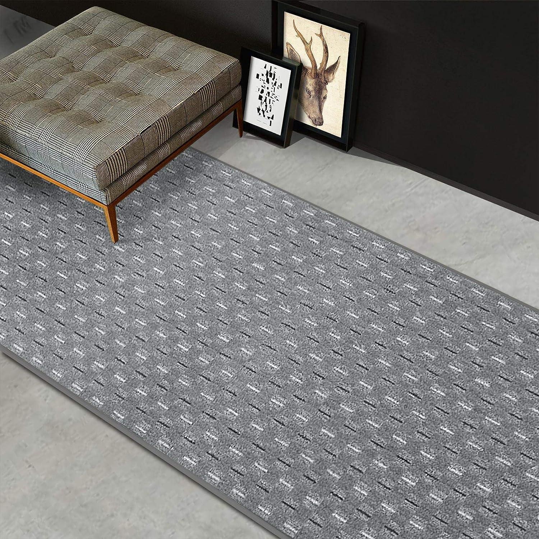 Casa pura Teppich Läufer Glasgow   Meterware   Teppichläufer für Wohnzimmer, Flur und Küche   flach gewebt   mit Stufenmatten kombinierbar (Grau - 80x200 cm) B07G59V4TS Lufer