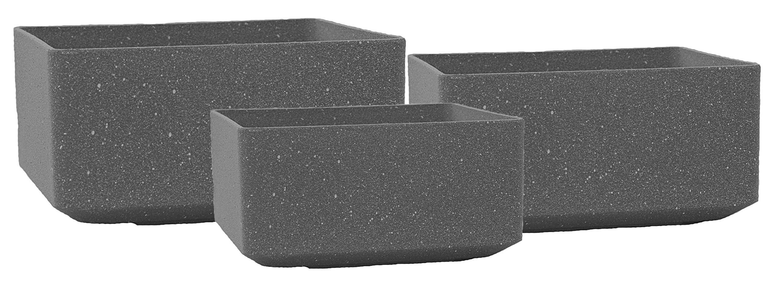 Stone Light AK Series Cast Stone Planter, Color - Baltic Grey