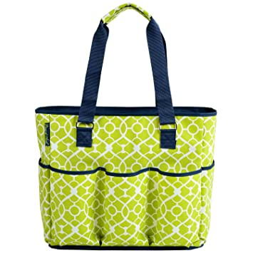 eacf87b5ccf0 Image Unavailable. Image not available for. Color  Picnic at Ascot Large  Insulated Multi Pocketed Travel Bag With 6 Exterior Pockets