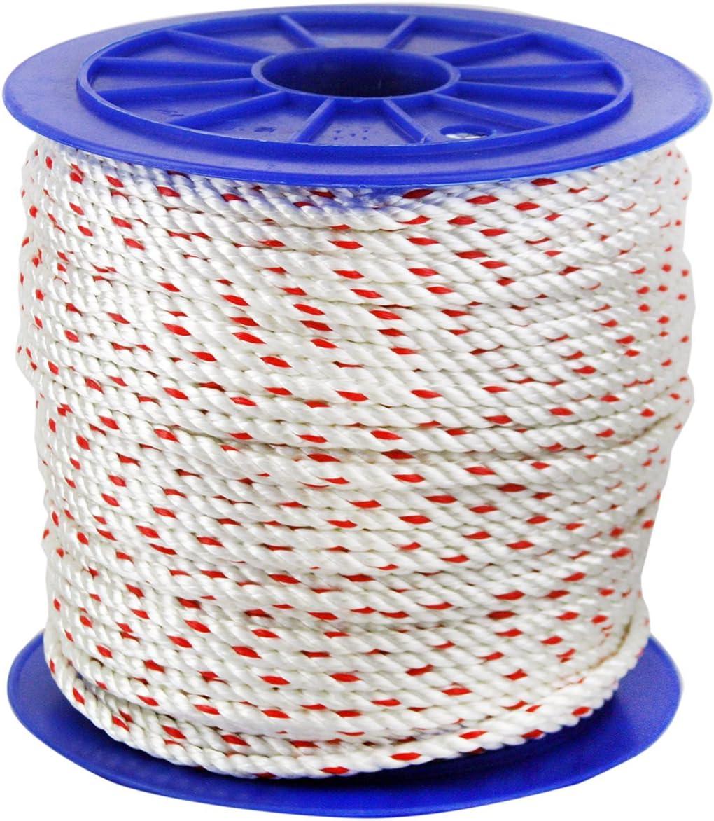 3 Strand Twisted Nylon Rope 3//16 600 Ft.