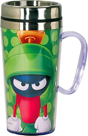 Superman Travel Mug With Non Slip Bottom and Flip Top