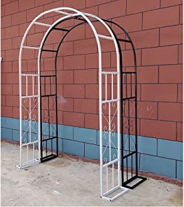 Wedding Rose Arch,Garden Arches Arbors Curved Metal Durable Iron Trellis Plants Stand Use Plants Stand Use for Outdoor Garden Arbor Climbing Plants Wedding Arches Ceremony
