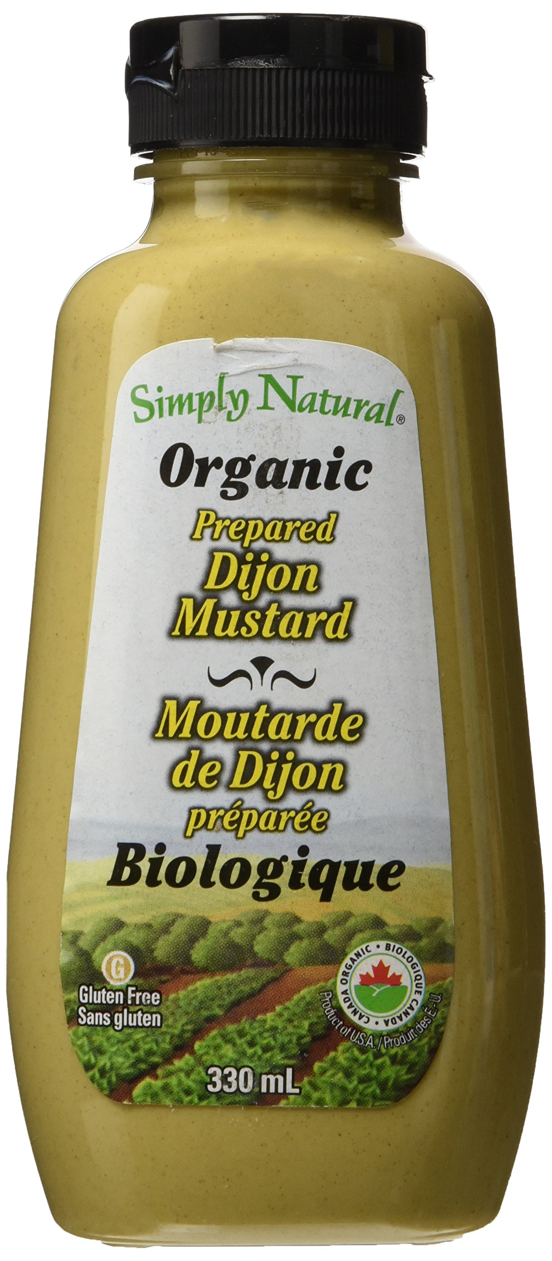 Simply Natural Organic Mustards-Dijon Mustard, 330ml/11.15 Fl Oz