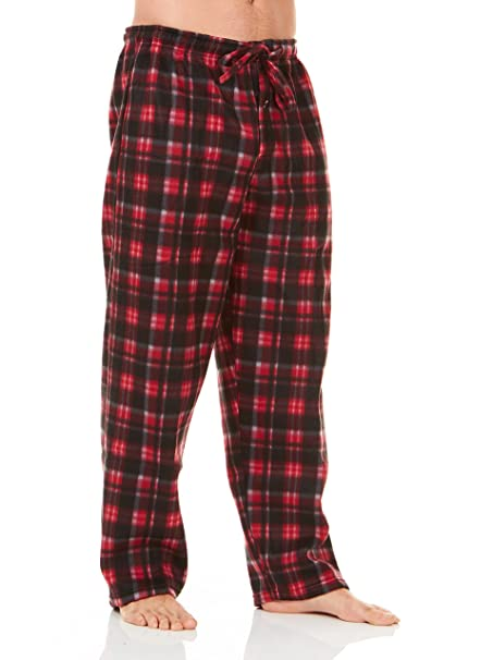 842f17bdbfb Unique Styles Mens Pajama Pants Polar Fleece Plaid Warm Lounge PJ Sleep Pant  (Large
