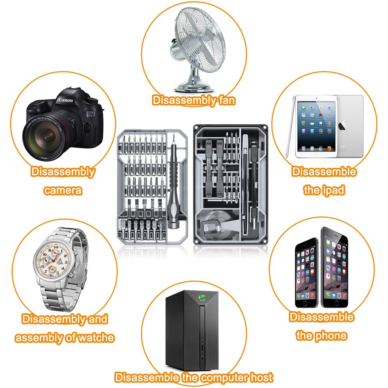 Gocheer Schraubendreher Set Reparatur, 68 in 1 Magnetisch Feinmechaniker Schraubendreher Bit für Elektronik, Smartphone,PC,Konsolen,Gläser, Kamera, Uhrenel(Aktualisierte Version)