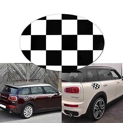 Amazoncom 1x Black White Checkered Sticker Decal For Mini Cooper