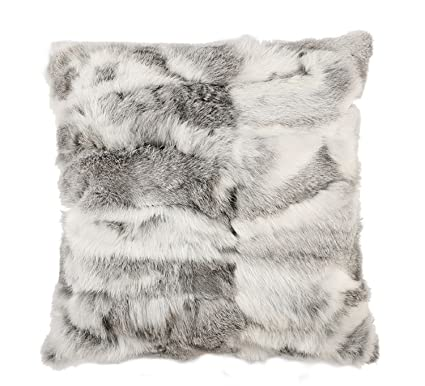 Amazon Real Rabbit Fur Pillowcase MINGCHAUN Rabbit Fur Pillow Magnificent Rabbit Fur Pillow Cover