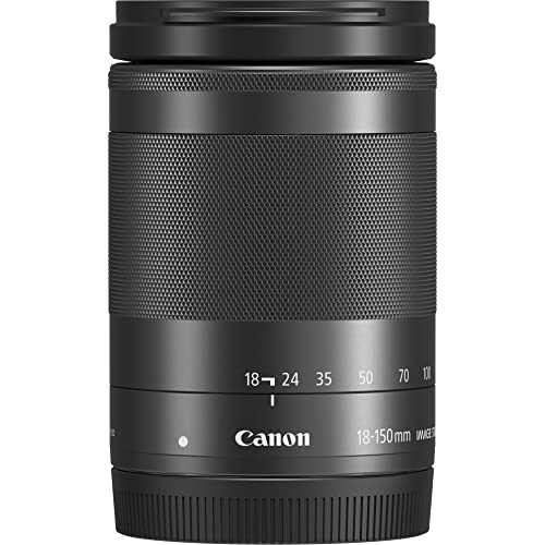 Canon EF-M 18-150 - Objetivo para Canon EOS M5, EF-M 18-150 mm f/3,5-6,3 IS STM, Negro