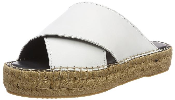 Royal Republiq Wayfarer Cross Sandal-WHT, Mocassins Femme, Blanc (White 17), 39 EU