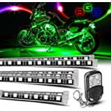 8 piece Motorcycle LED Lights Kit Strip/Multi-Color Accent/Glow LED Strip Lights/Motorcycle LED Flexible Lights Kit…