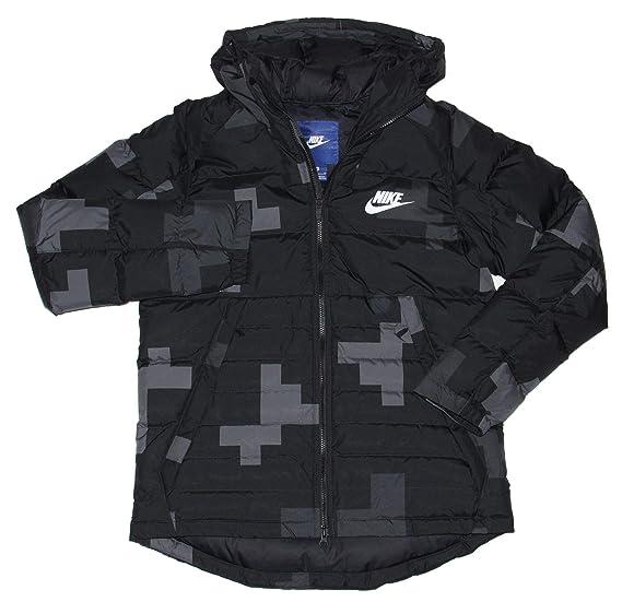 Nike Nsw Camo Down Filled Men S Puffer Jacket Xx Large Black Grey