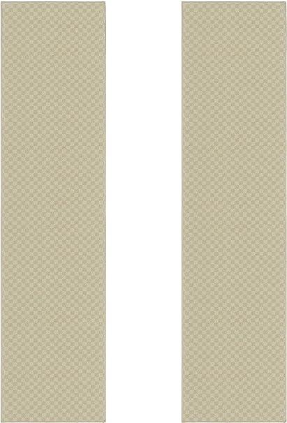 Amazon Com Garland Rug Medallion Area Rug Set 2 Piece Runner 2 Ft X 10 Ft 2 Ft X 10 Ft Tan Furniture Decor